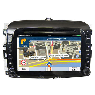 चीन Double Din FIAT Navigation System High Resolution With Capacitive Touch Panel आपूर्तिकर्ता