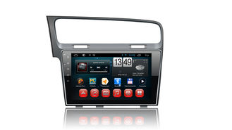 चीन 10 Inch Touch Screen Android 4.4 Gps Radio , Vw Golf 7 Gps Navigation System आपूर्तिकर्ता